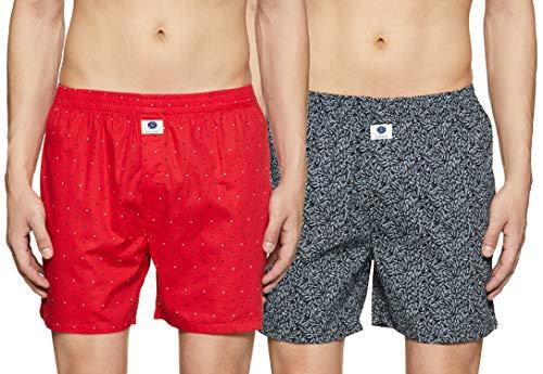 Amazon Brand - Symbol Men's Printed Boxers (Pack of 2)(SYMBXPO2-6_3949 & 3542_Multicolor_Medium)