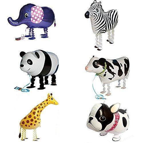 Signstek 6 Stk Tier Folienballon deko Ballon Zu Fuß Tier Ballons Helium Ballons für Party