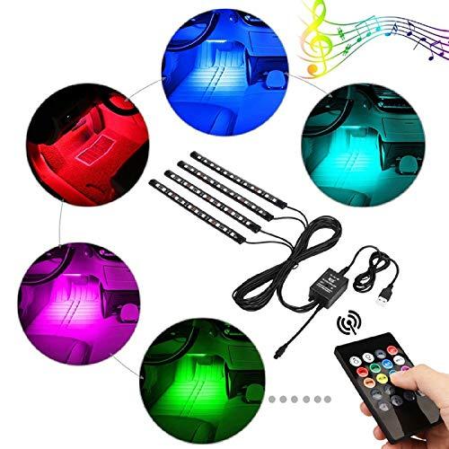 A59 RGB 8 Farbe 48x LED Streifen Licht Musik Fernbedienung Auto Innenbeleuchtung 48 Led-farbe