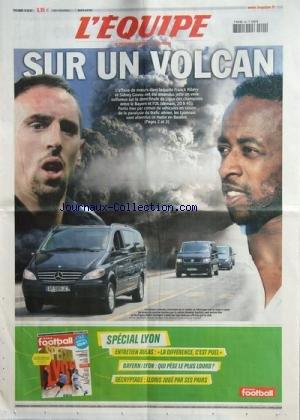 EQUIPE (L') [No 20373] du 20/04/2010 - FOOT / SUR UN VOLCAN / AFFAIRE DE MOEURS DE FRANCL RIBERY ET SIDNEY GOVOU - LIGUE DES CHAMPIONS ENTRE LE BAYERN ET L'OL -