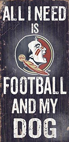 Fan Creations c0640Florida State University Fußball und My Dog Schild -