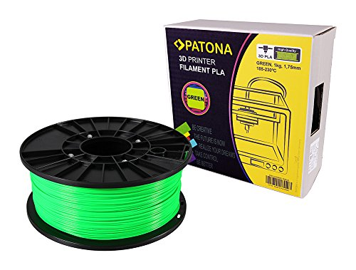 Patona 3D Printer Filament PLA grün (Spule / 1Kg / 1,75mm) -