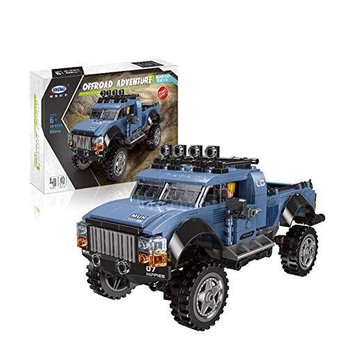 Yyz Rennserie Puzzle Boy Spielzeugzauber Einfügen Ziegel Auto Modell Super Pickup Truck SUV Bausteine   Geburtstagsgeschenk