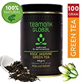 Teamonk Nilgiri Jasmine Green Tea for Weight Loss, 100g (50 Cups) | 100%