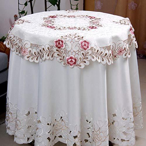 Lybhome Tischdecke, Bestickt, modern, minimalistisch, Weihnachten, Tisch und Stühle, Tischset, wasserdicht, ölbeständig 140x200 (Fondo de pantalla ovalado)