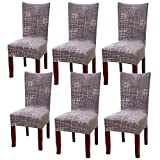 YISUN Universal Chair/Set of 64Pack Chair Cover Stretch Cover, brown, 6er Set