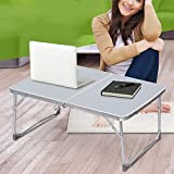Tinxs Portable Foldable Desk Table Stand Bed Tray For PC Laptop Notebook (White)