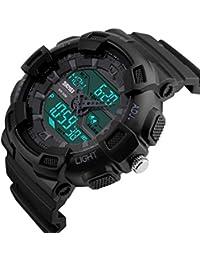 Skmei Multifunction Black Dial Analog Digital Sports Watch For Men's & Boys