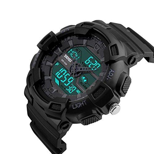 Addic Multifunction Black Dial Analog Digital Sports Watch For Men\'s & Boys