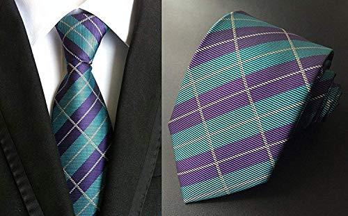Gestreifte Seide gewebt Classic Check Man 's Business Tie Krawatte Party Krawatten Check-krawatte Tie
