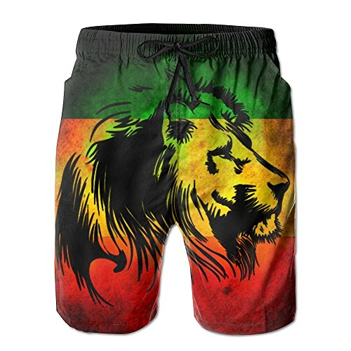 Adult Lion of Jamaica Reggae Swimming Beach Board Shorts Casual Gym Home Pants