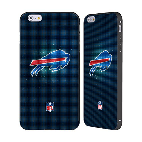 Ufficiale NFL LED 2017/18 Buffalo Bills Nero Cover Contorno con Bumper in Alluminio per Apple iPhone 6 Plus / 6s Plus LED
