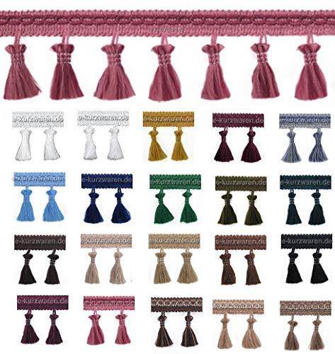 1m / 5m / 25m Borte mit Quasten 55mm Quastenborte Farbvielfalt Troddel Dekoration Gardinen Vorhang Deko