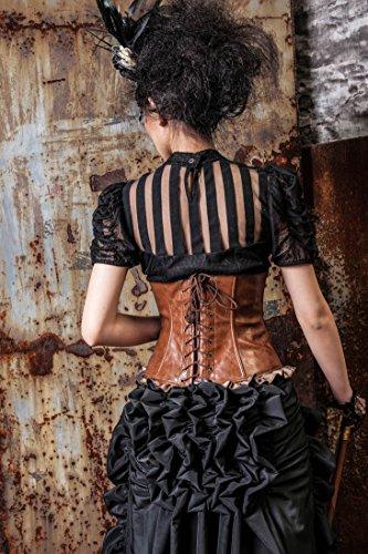 Viktorianische Kurzarm-Bluse - SASHA - Farbauswahl (SP087), Farbe:Schwarz;Größe:XXL - 3