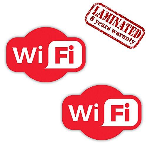 Kostenlose Vitrine (2 STÜCK Vinyl Aufkleber Stickers Free GRATIS KOSTENLOSE Wifi Internet Zeichen FÜR Kneipen GESCHÄFT Hotel Cafe VITRINE Fenster Auto B 93)