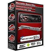 Mercedes Benz Vito, estéreo de coche PIONEER CD MP3Reproductor Radio con USB en la parte delantera Aux en