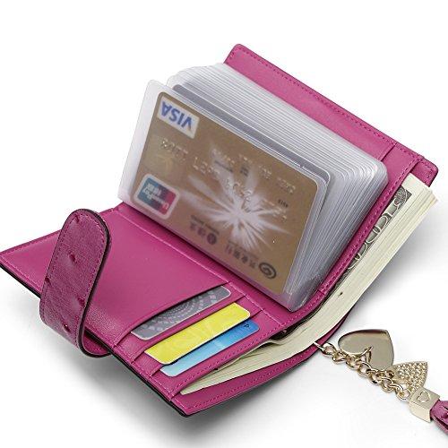 Teemzone pelle porta carte credito tessere rfid blocco - Porta tessere e banconote ...