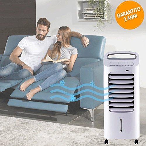 Bakaji 865287, rinfrescatore d'aria e raffrescatore evaporativo portatile da 6 litri e 60 watt