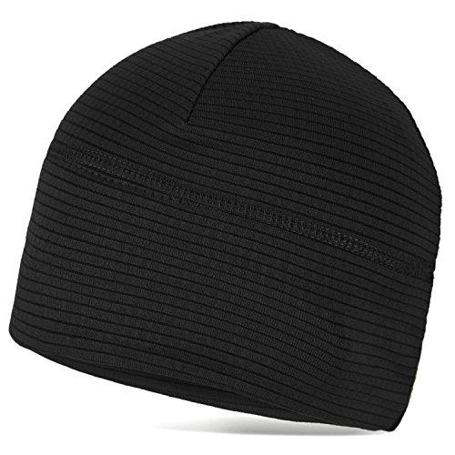 Thermo Mütze Sportcap aus schnell trocknendem Material Schwarz OneSize - 2