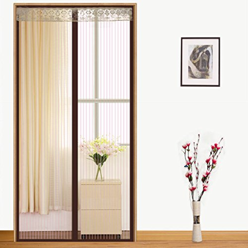 Striscia magica anti-zanzariera a criptazione magnetica soft screen door gauze summer camera da letto brown stripe