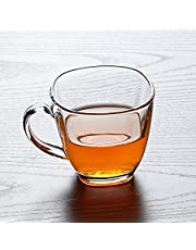 Truenow Glass Tea and Coffee Cup, 170ml(Transparent) - Set of 6