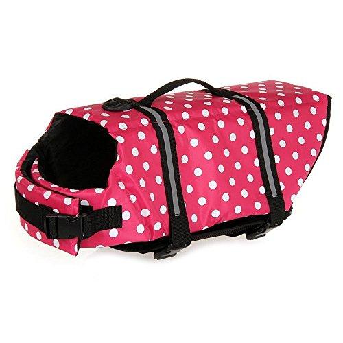 Giubbotto di Salvataggio del cane Pet Life Vest Passivo Hound Saver Dog Nuoto Conservatore di Sicurezza Costume Da Bagno Grandi Vestiti Del Cane (Reddot, L)