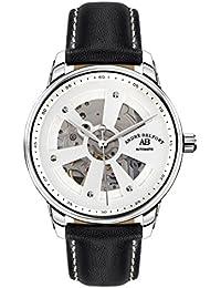 André Belfort 410169 - Reloj analógico de caballero automático con correa de piel negra - sumergible a 50 metros
