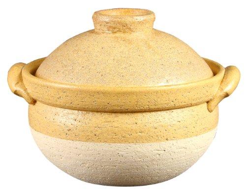 Iga terracotta pot Seto giallo polenta piatto (1-2 persone) NK-34 (Japan import / Il pacchetto e il manuale sono scritte in giapponese)