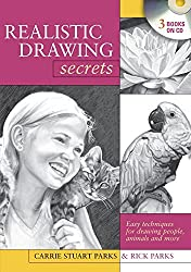 Realistic Drawing Secrets (CD): Easy Techniques for Drawing People, Animals and more by Carrie Stuart Parks (2009-01-26)