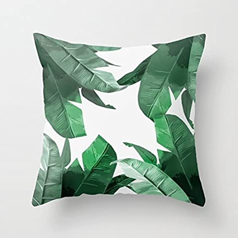 Decorative Pillow Case Tropical Palm Print Cushion Cover 18