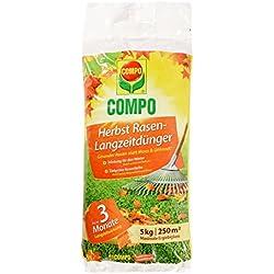 COMPO Herbst Rasen-Langzeitdünger, 3 Monate Langzeitwirkung, Feingranulat, 5 kg, 250 m²