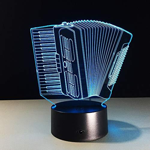 DDYDXL 3D LED Nachtlicht Mode Akkordeon Led Lampe Bunte Note Visuelles Licht Kreative Schreibtisch Schlafzimmer Schlaf Beleuchtung Kind Geburtstag Weihnachten Geschenke