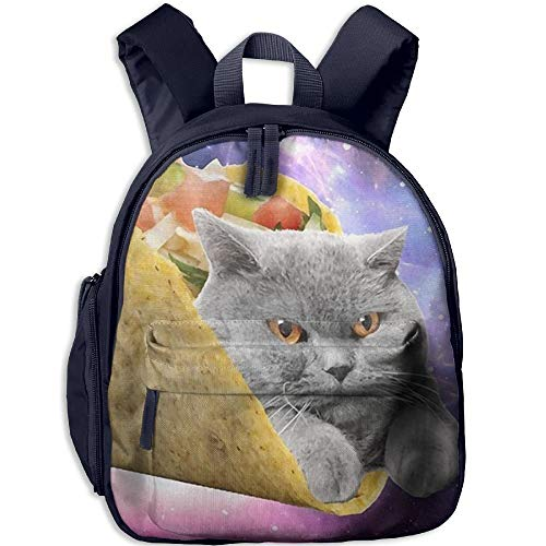 Lovely Schoolbag Cat With Tato Double Zipper Closure Waterproof Children Schoolbag Backpacks With Front Pockets For Kids Boy Girls