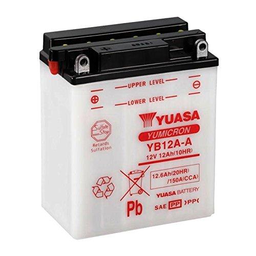 Batteria standard Yuasa YB12A-A 12 V 12 Ah 150 CCA acido non incluso