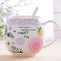 Tazza Nizza Coppia Coppe Bone China tazza di ceramica di vetro della tazza della tazza della tazza della tazza del latte della tazza di caffè ( colore : Viola )