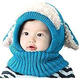 Inverno del bambino delle ragazze dei capretti dei ragazzi di lana caldo Coif Hood sciarpa ...