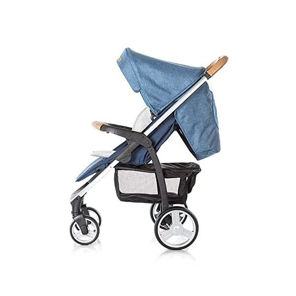 Chipolino Baby Stroller and Carry Cot Avenue, Navy Chipolino Can also be transformed into a carry cot Comfortable upholstered carrycot with mattress and carry handle Single front swivel lockable wheels 9
