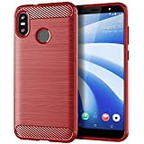 LAPINETTE Gel Case Cover for HTC U12 Life - Blue - Red