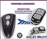 NOVOFERM / NOVOTRON 512 MIX43-2 (mini carbon) kompatibel handsender, ersatz sender, 433.92Mhz !!!