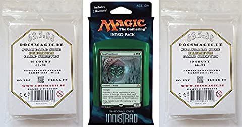 Shadows over Innistrad - Intro Pack - Horrific Visions (Green) - English + 2 x 50 Docsmagic.de Premium Sleeves Magic: The Gathering