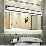 ELINKUME 1X 7W 770 lumen 35 LED SMD 2835 Edelstahl Acrylglas LED Spiegelleuchte Badlampe Wandleuchte Schranklampe Badleuchten Warmweiß (2800-3200K)
