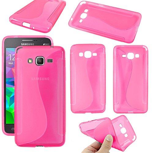 ebestStar - Compatibile Cover Samsung Grand Prime Galaxy G530F, Value Edition G531F Custodia Protezione S-Line Design Silicone Gel TPU Morbida e Sottile, Rosa [Apparecchio: 144.8x72.1x8.6mm, 5.0'']