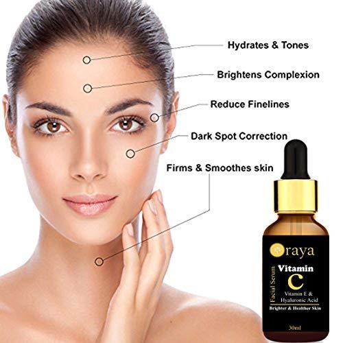 Oraya Vitamin C Face Serum For Skin Brightening, Anti-Ageing & for Glowing Skin 30ml