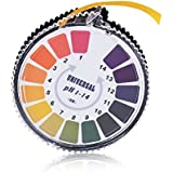 Indicador de pH Prueba de Litmus Rollo de tira de papel,Rango 1-14 Papel de prueba preciso y confiable para Agua, Orina, Saliva y Dieta Alcalina Necesidad de Salud (5 Metros)