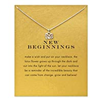 Underleaf Elegant Lotus Necklace Sterling Silver Pendant Necklace Gift For Women Girls With Message Card
