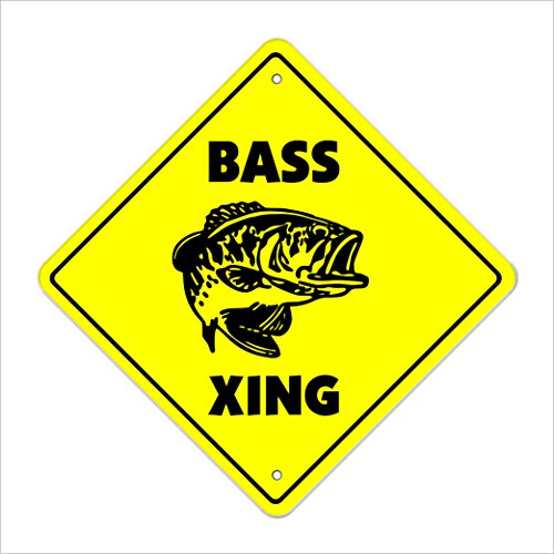SignMission Bass Crossing Sign Zone Boot, Xing Neue Angelköder Rute Hat Wathose, Plastik, Gelb, Large