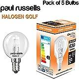 5x Halogen Golf Ball Leuchtmittel SES E1442W = 55W DIMMBAR Energiesparend Lampen