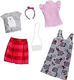 Mattel Fashionistas-Pack de 2 Modas, Ropa Barbie Estampado a Cuadros, Accesorios muñecas FXJ67