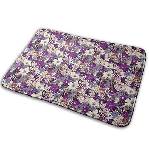 aiian Tropical Floral Doormat Anti-Slip House Garden Gate Carpet Door Mat Floor Pads 15.7