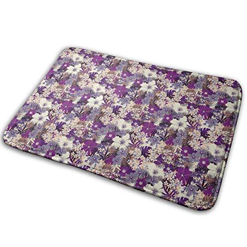 aiian Tropical Floral Doormat Anti-Slip House Garden Gate Carpet Door Mat Floor Pads 15.7